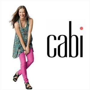 CAbi Skinny Jeans Bardot Hot Pink Marbled Size 12